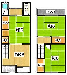 [タウンハウス] 大阪府枚方市渚西1丁目 の賃貸【/】の間取り