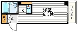 コスモメイト上汐町[3階]の間取り