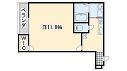 サニーコート日根野2番館 1階1Kの間取り