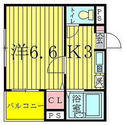 ペグハウス柏中央[3階]の間取り