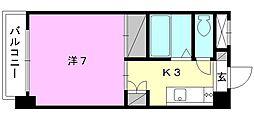 ジョイフル第3今市[505 号室号室]の間取り