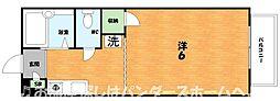 大阪府枚方市朝日丘町の賃貸アパートの間取り