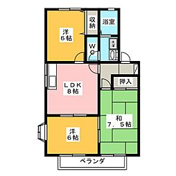 ランセハイカムール[2階]の間取り