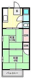 大阪府寝屋川市木田町の賃貸アパートの間取り