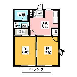 愛知県名古屋市天白区梅が丘1丁目の賃貸マンションの間取り