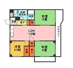 緑ヶ丘フラワーハイツ[1階]の間取り