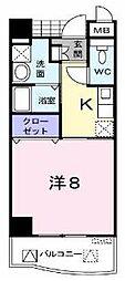 大阪府枚方市長尾家具町1丁目の賃貸マンションの間取り