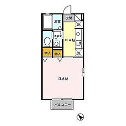 パークサイド城東[2階]の間取り