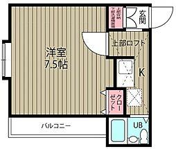 千葉県浦安市富士見5の賃貸アパートの間取り