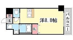 プレサンス神戸みなと元町[507号室]の間取り