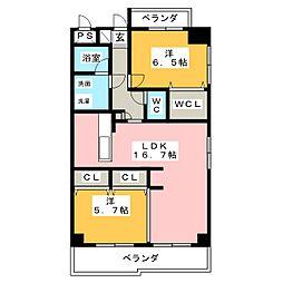 シャトルスケミツII[3階]の間取り