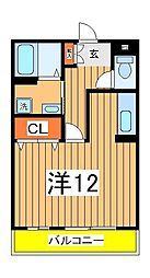 セレニティホームズA棟[3階]の間取り