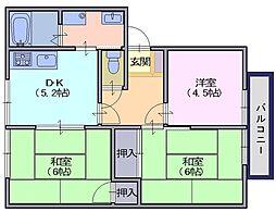 サンハイムA[2階]の間取り