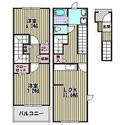 サンフェリスタII[3階]の間取り