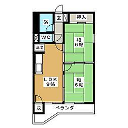 鹿野リハイム[6階]の間取り