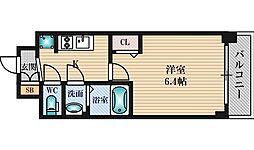 プレサンス新大阪イオリア 7階1Kの間取り