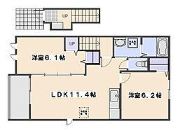 プラシードカーサ16[1階]の間取り