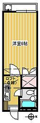 中村ハイツ2[1階]の間取り
