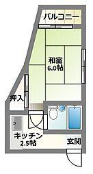 大阪府守口市藤田町6丁目の賃貸マンションの間取り