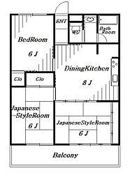 アイチ都賀I[4階]の間取り