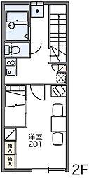 レオパレスノベルティ[2階]の間取り