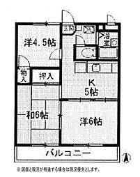 ラ・グリューV[2階]の間取り