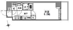 つくばエクスプレス 浅草駅 徒歩16分の賃貸マンション 7階1Kの間取り