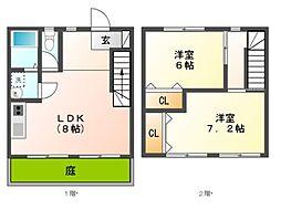 ファミーユA・B(蘇原沢上町)[1階]の間取り