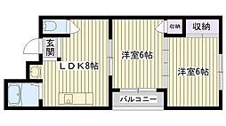 飯塚ハイツ[401号室]の間取り