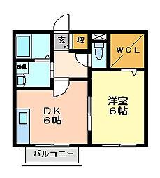ユマリアコート[2階]の間取り