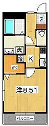 ジ・アパートメント下堀[301号室号室]の間取り