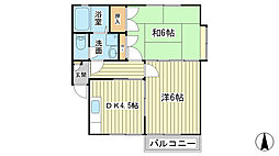 パールハイム新宿[202号室]の間取り