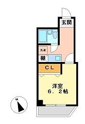 ライオンズマンション鶴舞第2[2階]の間取り