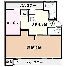 兵庫県神戸市東灘区森北町4丁目の賃貸マンションの間取り