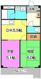 東京都練馬区大泉町5丁目の賃貸マンションの間取り