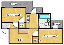 アメニティ大東[1階]の間取り