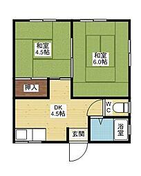 宮本マンション[3階]の間取り