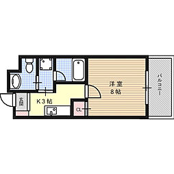 グランベール京口[3階]の間取り