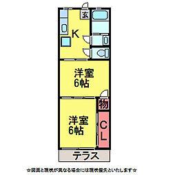菊池第二ハイツ[1階]の間取り
