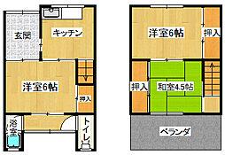 [テラスハウス] 大阪府大阪市平野区喜連西5丁目 の賃貸【/】の間取り