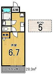 ロフティ大和[2階]の間取り