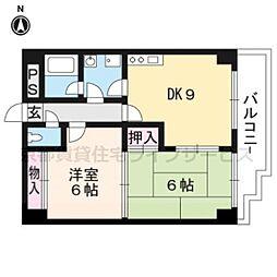 エスポワール西京極[502号室]の間取り