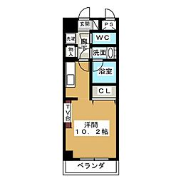ノヴェル新栄[10階]の間取り