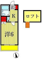 サンライズB棟[2階]の間取り