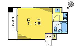シャローム東中野[408号室]の間取り