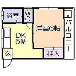 米倉マンション[201号室]の間取り