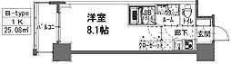 S-RESIDENCE阿波座WEST 5階1Kの間取り