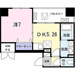 Field−V 築地 3階1DKの間取り