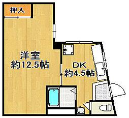 山城マンション[2階]の間取り