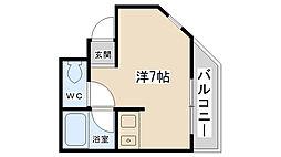 吉永ビル 多田駅前[302号室]の間取り